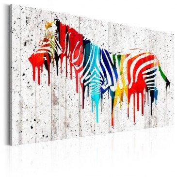 Tableau Zèbre colorée  | cosy-home-design.fr