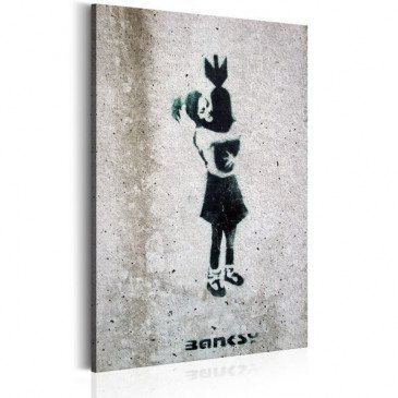 Tableau Bomb Hugger by Banksy    cosy-home-design.fr