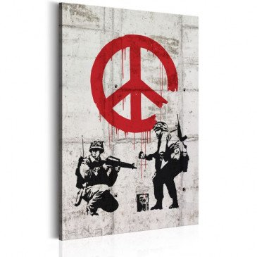 Tableau Soldiers Painting Peace by Banksy    cosy-home-design.fr