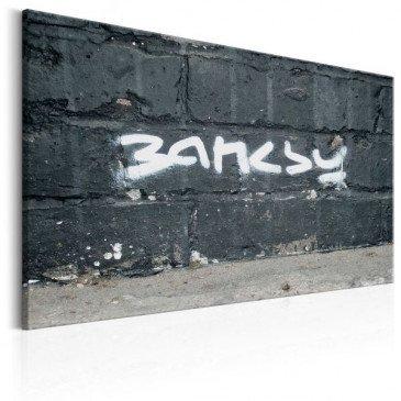 Tableau Signature de Banksy    cosy-home-design.fr