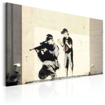 Tableau Sniper and Child by Banksy    cosy-home-design.fr