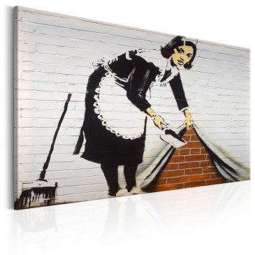 Tableau Maid in London by Banksy    cosy-home-design.fr