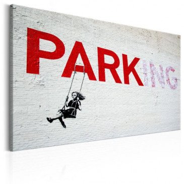 Tableau Parking Girl Swing by Banksy    cosy-home-design.fr