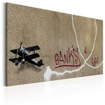 Tableau Love Plane by Banksy    cosy-home-design.fr