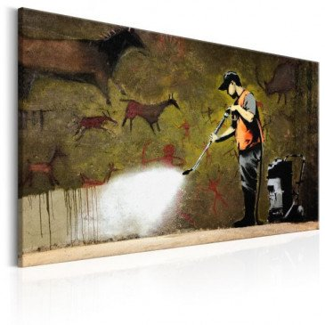 Tableau Cave Painting by Banksy    cosy-home-design.fr