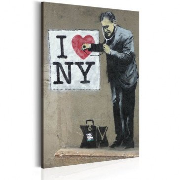 Tableau I Love New York by Banksy    cosy-home-design.fr