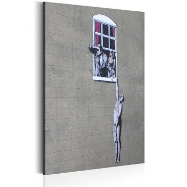 Tableau Well Hung Lover by Banksy    cosy-home-design.fr