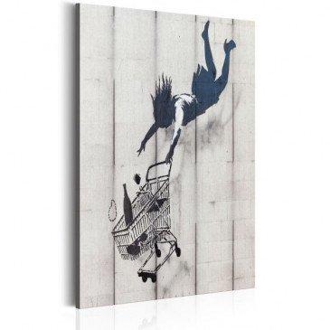 Tableau Shop Til You Drop by Banksy    cosy-home-design.fr
