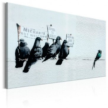 Tableau Protesting Birds by Banksy    cosy-home-design.fr