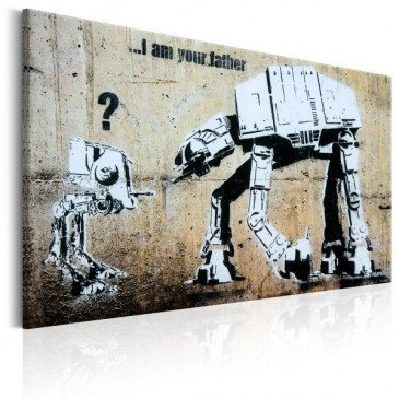 Tableau I Am Your Father by Banksy    cosy-home-design.fr