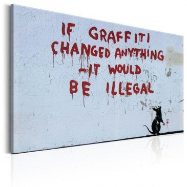 Tableau If Graffiti Changed Anything by Banksy    cosy-home-design.fr