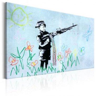 Tableau Boy with Gun by Banksy    cosy-home-design.fr