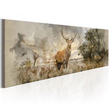Tableau Watercolour Deer  | cosy-home-design.fr