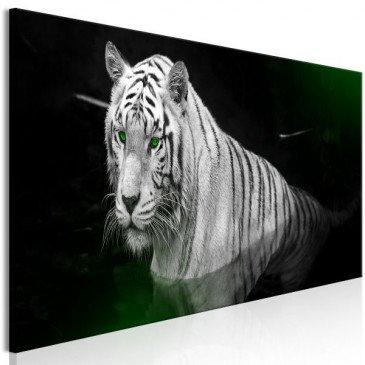 Tableau Shining Tiger 1 Pièce Green Narrow  | cosy-home-design.fr