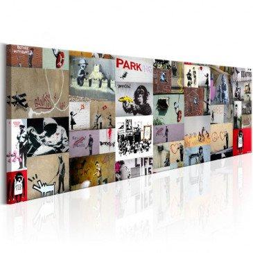 Tableau Art of Collage Banksy II  | cosy-home-design.fr