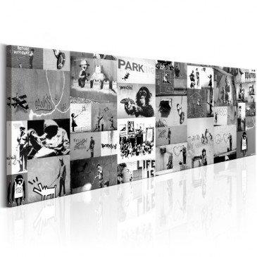 Tableau Banksy Graffiti Collage II  | cosy-home-design.fr