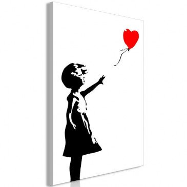Tableau Little Girl with a Balloon 1 Pièce Vertical    cosy-home-design.fr