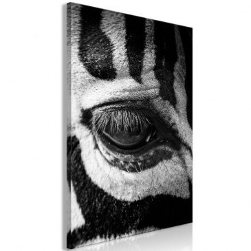 Tableau Zebra Eye 1 Pièce Vertical  | cosy-home-design.fr