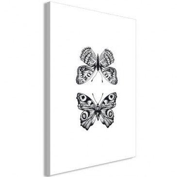 Tableau Two Butterflies 1 Pièce Vertical    cosy-home-design.fr