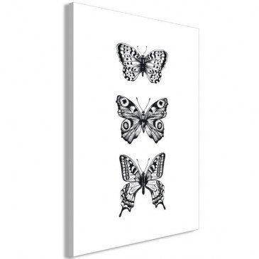 Tableau Three Butterflies 1 Pièce Vertical    cosy-home-design.fr
