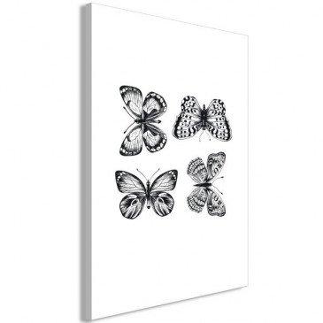 Tableau Four Butterflies 1 Pièce Vertical    cosy-home-design.fr