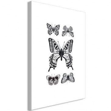 Tableau Five Butterflies 1 Pièce Vertical    cosy-home-design.fr