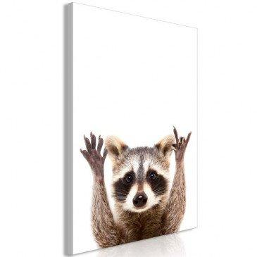 Tableau Raccoon 1 Pièce Vertical  | cosy-home-design.fr