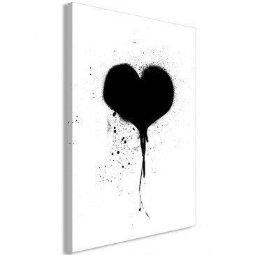 Tableau Destroyed Heart 1 Pièce Vertical    cosy-home-design.fr