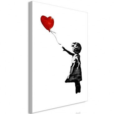 Tableau Banksy Girl with Balloon 1 Pièce Vertical  | cosy-home-design.fr