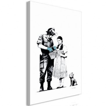 Tableau Dorothy and Policeman 1 Pièce Vertical    cosy-home-design.fr