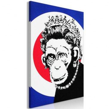 Tableau Queen of Monkeys 1 Pièce Vertical    cosy-home-design.fr