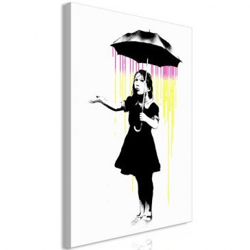 Tableau Girl with Umbrella 1 Pièce Vertical    cosy-home-design.fr