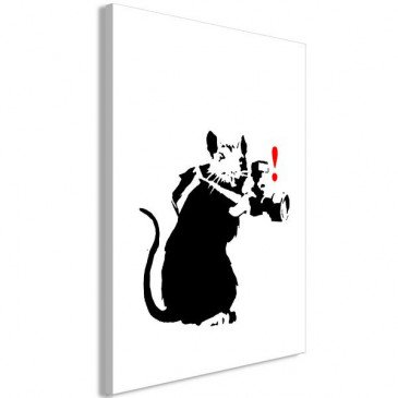 Tableau Rat Photographer 1 Pièce Vertical    cosy-home-design.fr