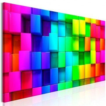 Tableau Colourful Cubes (1 Part) Narrow  | cosy-home-design.fr