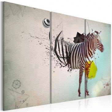 Tableau zèbre - abstraction  | cosy-home-design.fr