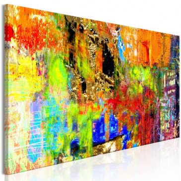 Tableau Colourful Abstraction (1 Part) Narrow  | cosy-home-design.fr