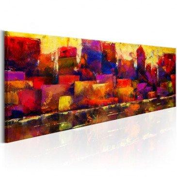 Tableau Colourful City Skyline  | cosy-home-design.fr