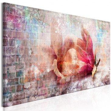 Tableau Colourful Magnolias (1 Part) Narrow  | cosy-home-design.fr