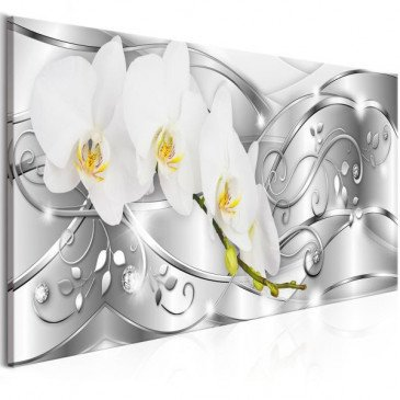 Tableau Flowering (1 Part) Narrow Silver  | cosy-home-design.fr