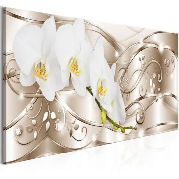 Tableau Flowering (1 Part) Narrow Beige  | cosy-home-design.fr