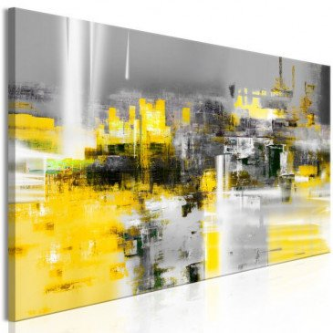 Tableau Yellow Andromeda (1 Part) Narrow  | cosy-home-design.fr