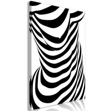 Tableau Zebra Woman (1 Part) Vertical  | cosy-home-design.fr