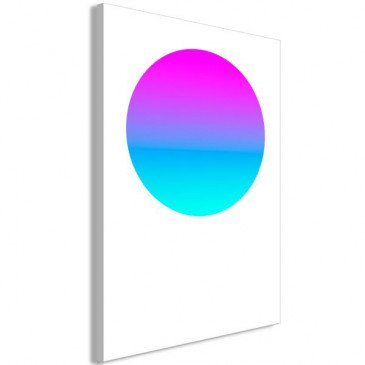 Tableau Colourful Circle (1 Part) Vertical  | cosy-home-design.fr