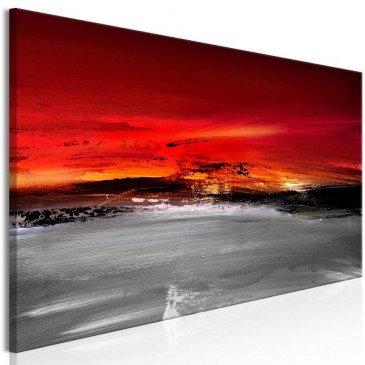 Tableau Crimson Landscape (1 Part) Narrow  | cosy-home-design.fr