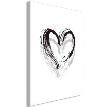 Tableau Brush Heart (1 Part) Vertical  | cosy-home-design.fr
