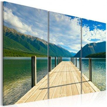 Tableau  Jetée sur le lac  | cosy-home-design.fr