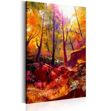 Tableau Forêt peinte  | cosy-home-design.fr