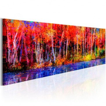Tableau Colorful Autumn Trees  | cosy-home-design.fr