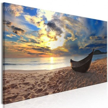 Tableau Boat on the Beach (1 Part) Narrow  | cosy-home-design.fr