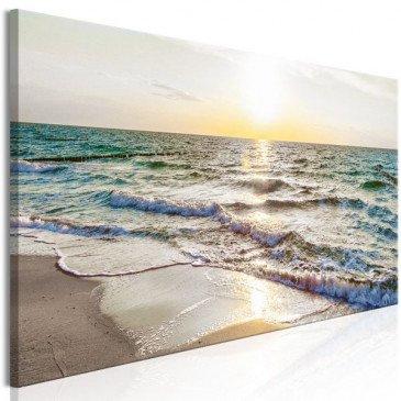 Tableau Calm Waves (1 Part) Narrow Grey  | cosy-home-design.fr